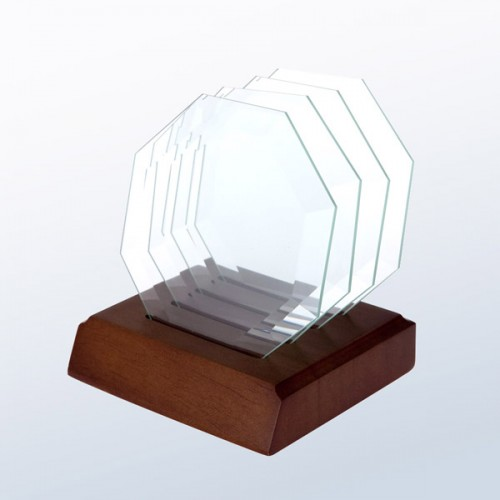 Octagon Glass Coaster (Set of 4)