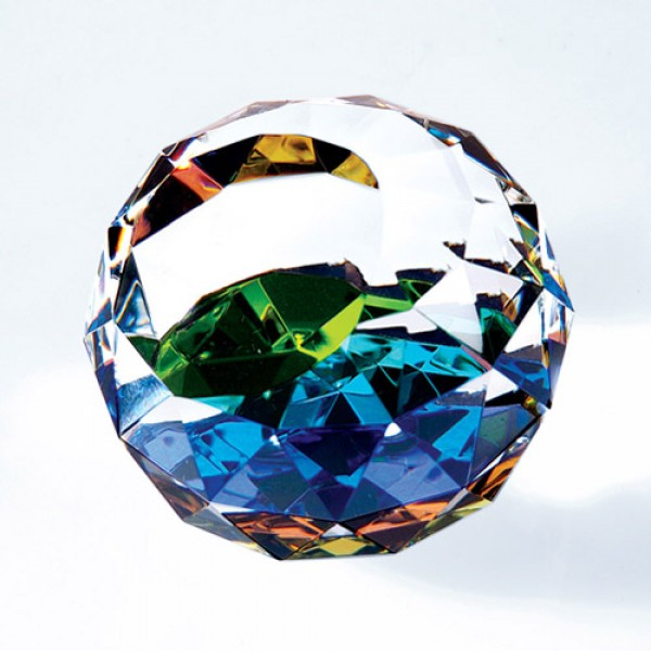 Colour gem-cut round large