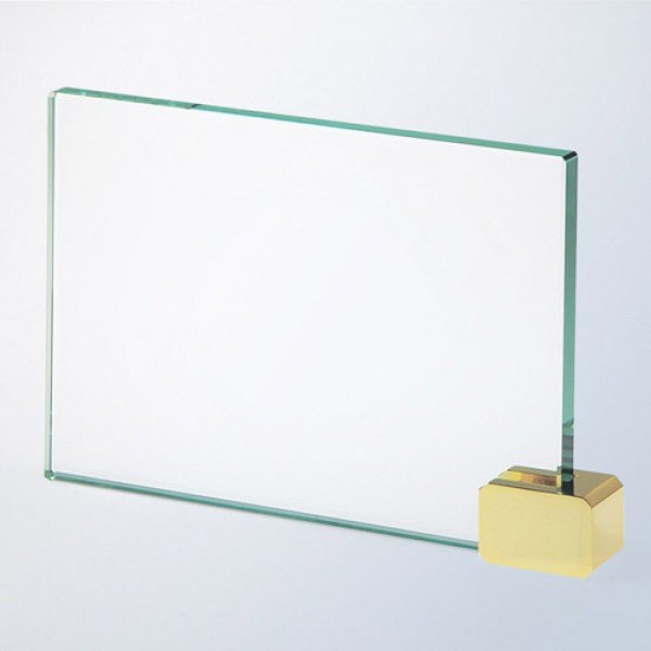 Achievement Award -Rectangular Holder Brass Large