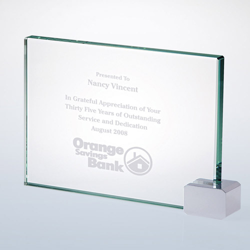 Achievement Award -Rectangular Holder Chrome Sm