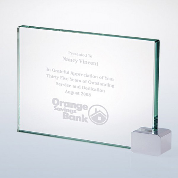 Achievement Award -Rectangular Holder Chrome Med