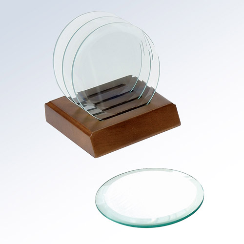 Circle glass coaster (single)