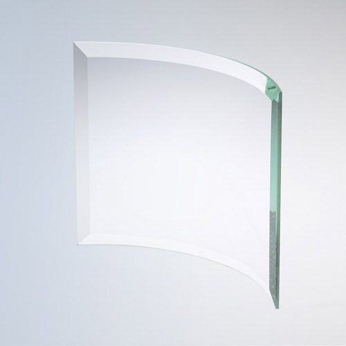 Bevelled Curved Rectangle Large Jade