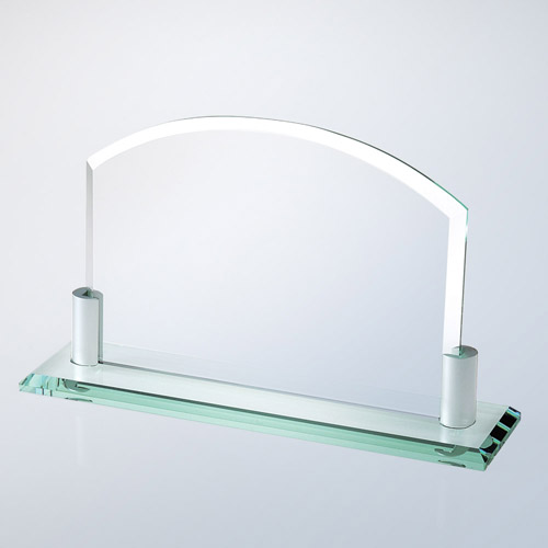 Bevelled Arch W/Aluminum Holder Horizontal Large