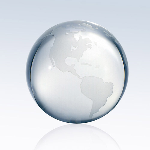 Clear Ocean World Globe Large