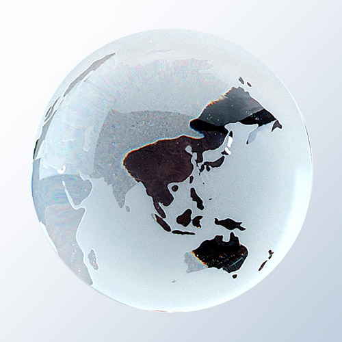 Frosted Ocean World Globe