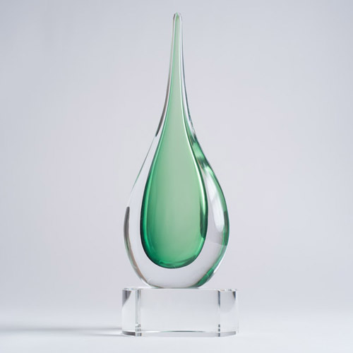 Emerald Teardrop on base large