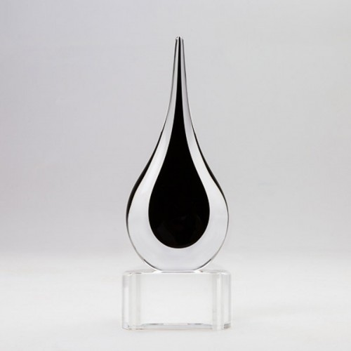 Black Teardrop on base large