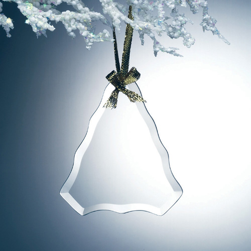 Beveled Jade Glass Ornament - Tree