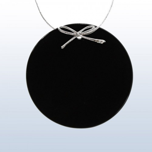 Black circle ornament
