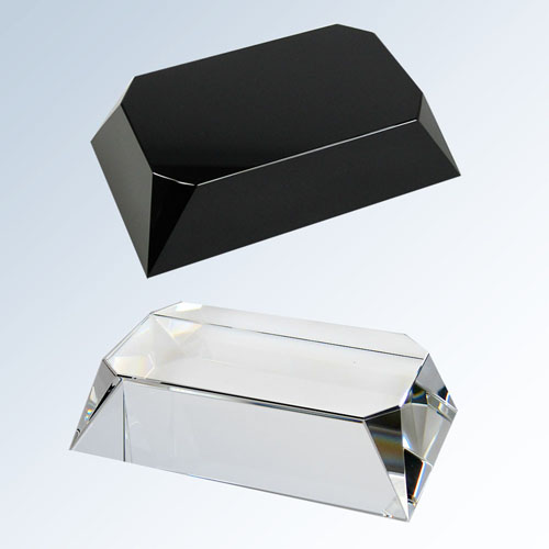 Black Crystal Four Sided Slant Base Rectangle