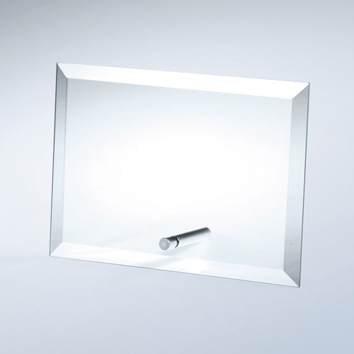 Beveled Horizontal Rectangle W/Al Pole Med