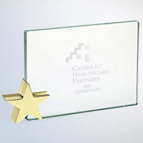 Achievement Award -Star Holder Brass Med
