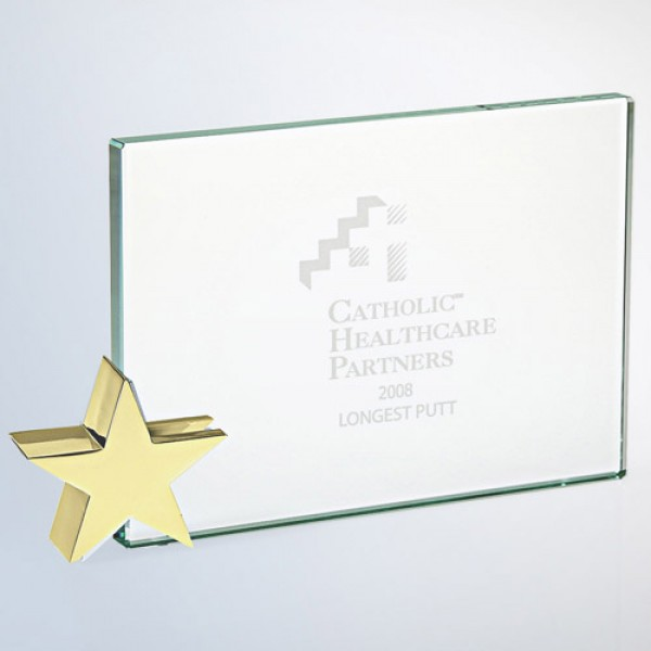 Achievement Award -Star Holder Brass Small