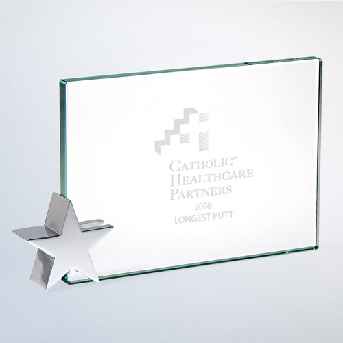 Achievement Award -Star Holder Chrome Small